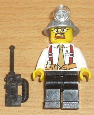 Lego City 1 Bergarbeiter Grubenarbeiter mit Spitzhacke