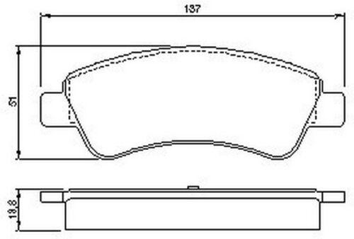 Citroen C4 2004-2010 La Lc Vetech Front Brake Pad Set Braking System Kit Replace