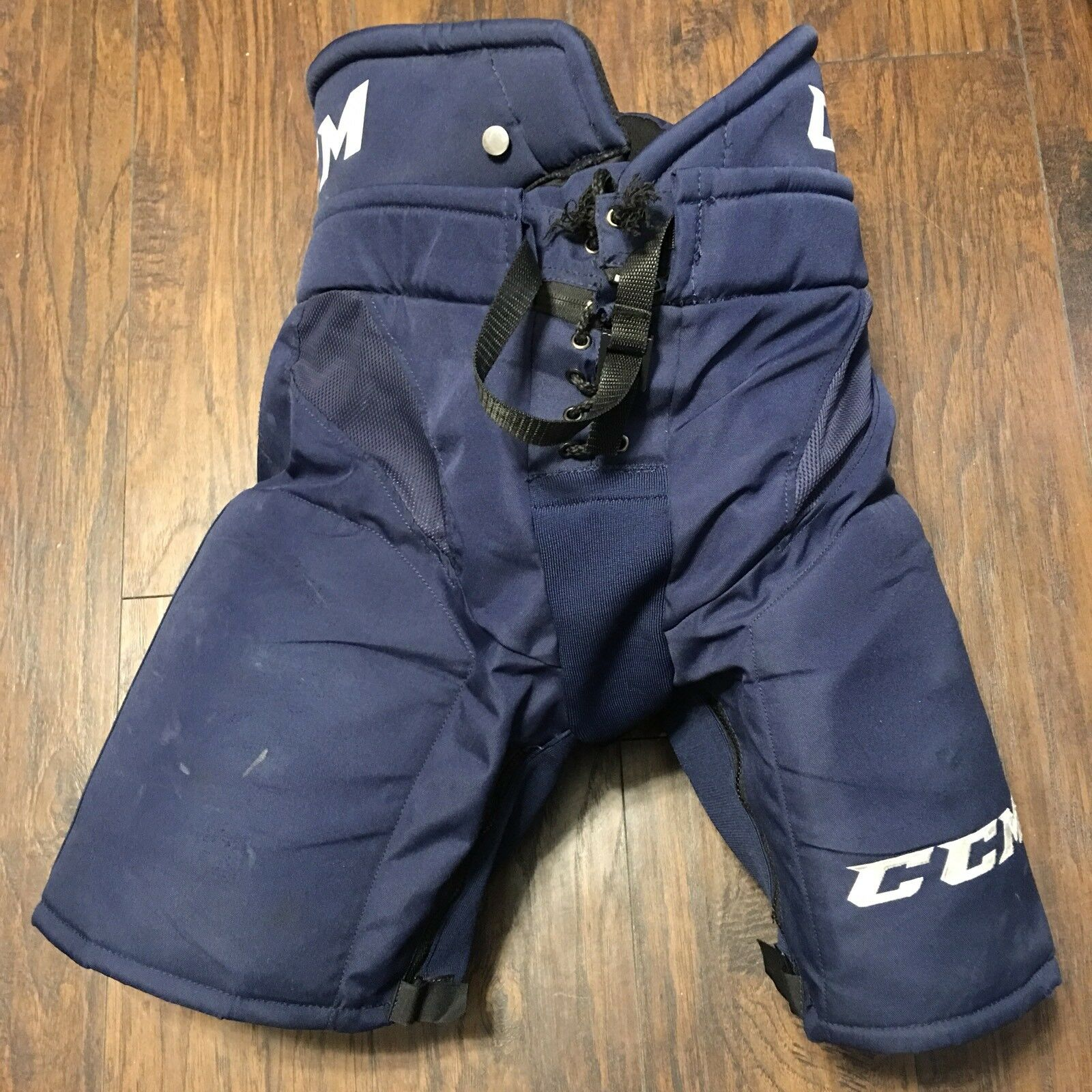 Worcester Railers ECHO Navy Pro Stock CCM HP32 Hockey Pants SZ L