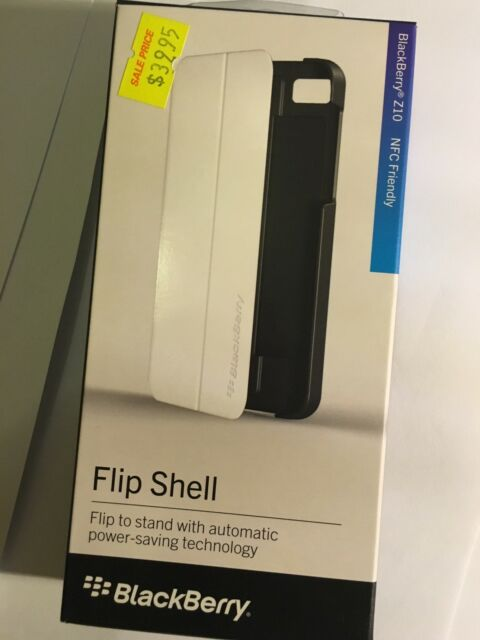 BlackBerry Z10 Flip Shell in Black/White ACC-49284-202 NFC Friendly and Original