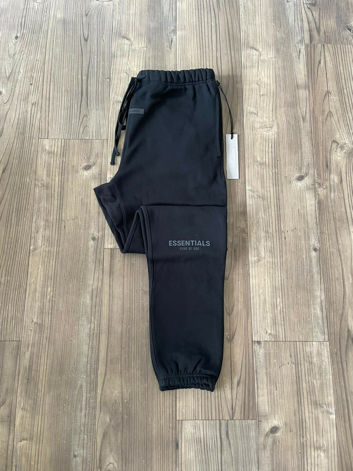 100% Authentic Fear Of God Essentials Joggers - Black - Size M