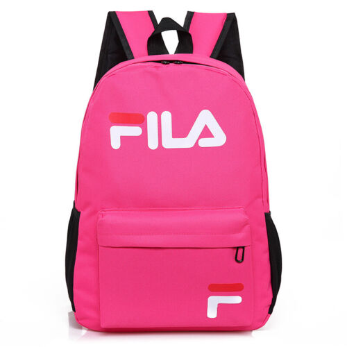 Hot Men Womens FILA Backpack Rucksack Kids Boys Girls School Bag Laptop Book Bag