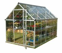 Palram Harmony Silver Greenhouse - Clear Polycarbonate, 6 X 10ft , Base Inc