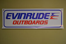 Evinrude Outboard BANNER Mechanic Sign Boat Shop Motor Johnson Parts Repair