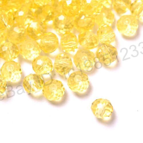 Calidad superior de 100Pcs cristal checo facetado rondelle espaciador perlas 4 mm 6 mm