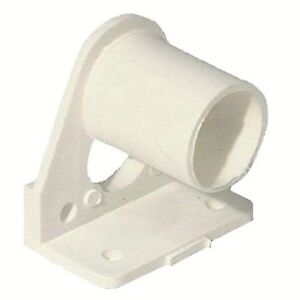 Windoware MUSLIN PVC CURTAIN BRACKETS 4Pcs, Recess 16mm Rod, WHITE