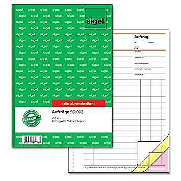 Sigel Auftrag A5 SD002