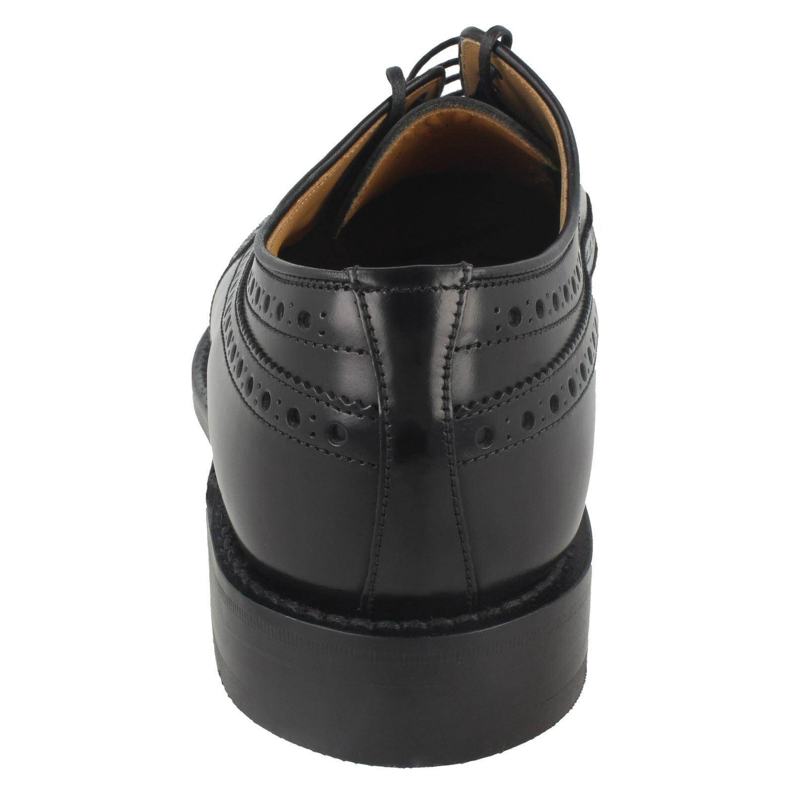 Herren Braemar F fitting schwarz Leder by brogue lace up shoe by Leder Loake 9ee525