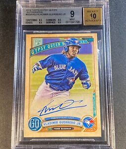 VLADIMIR-GUERRERO-JR-2019-TOPPS-GYPSY-QUEEN-AUTO-ROOKIE-RC-BGS-9-10-W-3-9-5-SUBS