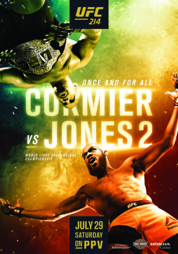 UFC 214 Daniel Cormier vs Jon Jones 2 PHOTO Print POSTER Woodley Maia 2017 MMA