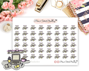 Don/'t be Busy be Productive Planner Stickers//Erin Condren// Happy Planner