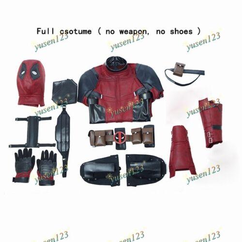 Custom Made DeadPool 2 Wade Wilson Halloween Cosplay Costume Jumpsuit Shoes