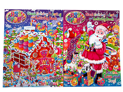 - Lisa Frank Giant Holiday Coloring Book Activity Christmas Books Set Of 2  (NEW) EBay