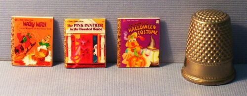 Dollhouse Miniature 1:12 scale Halloween Little Golden Books Set of 6