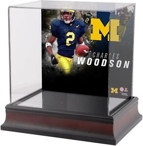 Charles-Woodson-Michigan-Wolverines-Deluxe-Mahogany-Mini-Helmet-Case-Fanatics