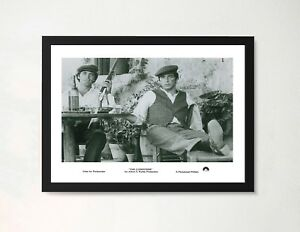 Details About Framed The Father Al Pacino Sicily Film Poster A4 Size In Black White Frame