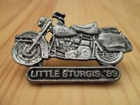 Little Sturgis Biker Rally 1999 Vintage Motorcycle Pin In Antique Sil Plate,
