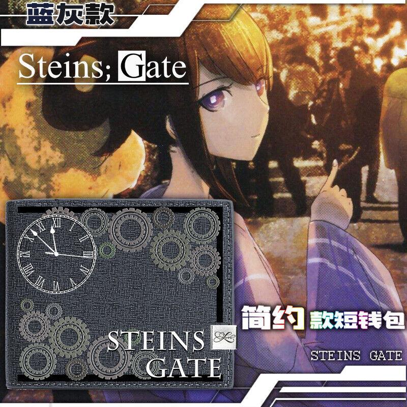 Anime Steins;Gate Cosplay Bifold Purse Cash Card Unisex Short Wallet#636
