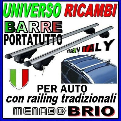 4F Barre Portatutto Menabo TIGER BLACK 135 AUDI A6 Avant 04/>11 Profili integr