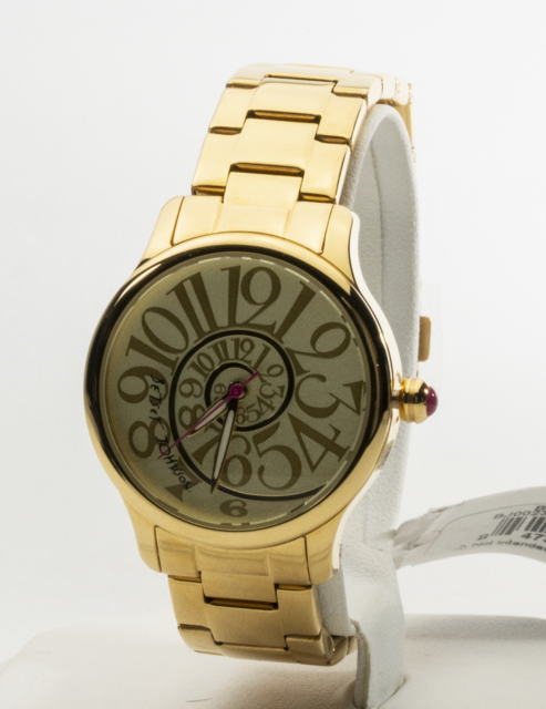 fed58f41f706 Betsey Johnson Swirl Bracelet Gold 33mm Watch 0507