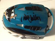 "Antti Niemi Sharks Signed Auto Riddell Mini Goalie Mask COA ""PROOF"""