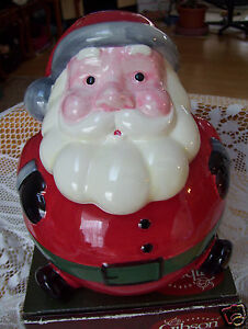 Gibson-Everyday-Jolly-Santa-Ceramic-Cookie-Snack-Jar-Collectible-New ...