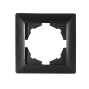 Gunsan-Visage-1-fach-Rahmen-fuer-Steckdose-Schalter-Dimmer-Schwarz-01283400000140