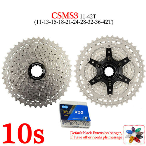 SUNRACE 40//42//46T MTB Bike Cassette 8//9//10//11s KMC Sprocket Chain Cassettes Hook