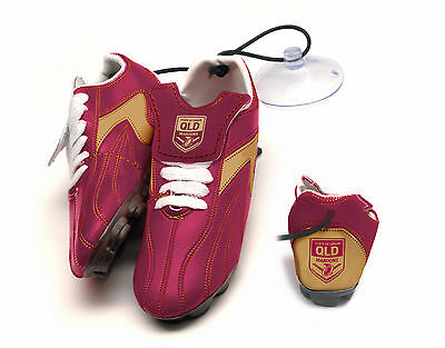 NRL State Of Origin QLD Queensland Hanging Suction Footy Boots Birthday Gift