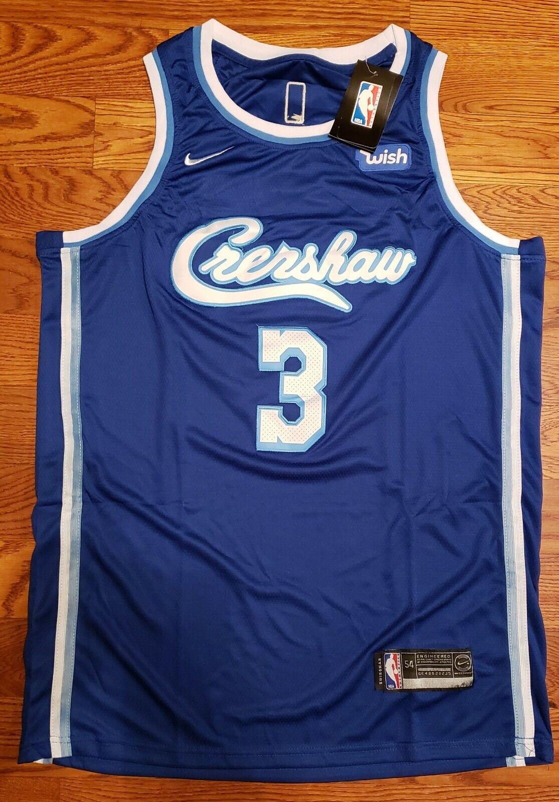 Lakers Crenshaw Anthony Davis #3 Jersey Adult XL NEW | eBay