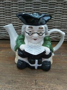 Vintage-Ornamental-TEAPOT-Toby-Jug-Style-Novelty-Tea-pot