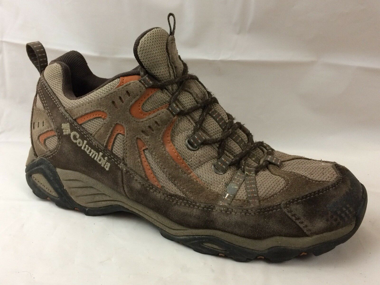 Columbia Firelane MEN 10 Wide Hiking shoes Techlite Omni-Grip Trail Brown Leather