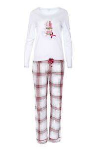 "LOUIS & LOUISA   Pyjama  "" Geschenke ""  weiß / flanell Gr.  L    NEU"