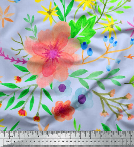 Soimoi Fabric Leaves /& Oleander Floral Decor Fabric Printed BTY FL-837F