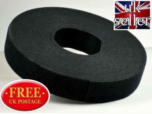 VELCRO® Brand Hook and Loop ONE WRAP back to back Strapping 5cm black x 2 metres