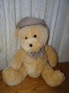 Plush-Teddy-Bear-Homerbest-in-Kakai-Bow-Tie-and-Golf-Cap-So-Soft-19-034