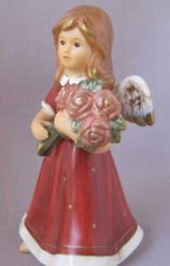 German Goebel Porcelain Angel A Rose Is Blooming Germany NIB Mother's Day Gift