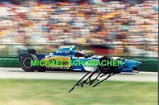 Michael Schumacher im Benetton F1 originales Riesen Poster Foto 30 x 40 cm