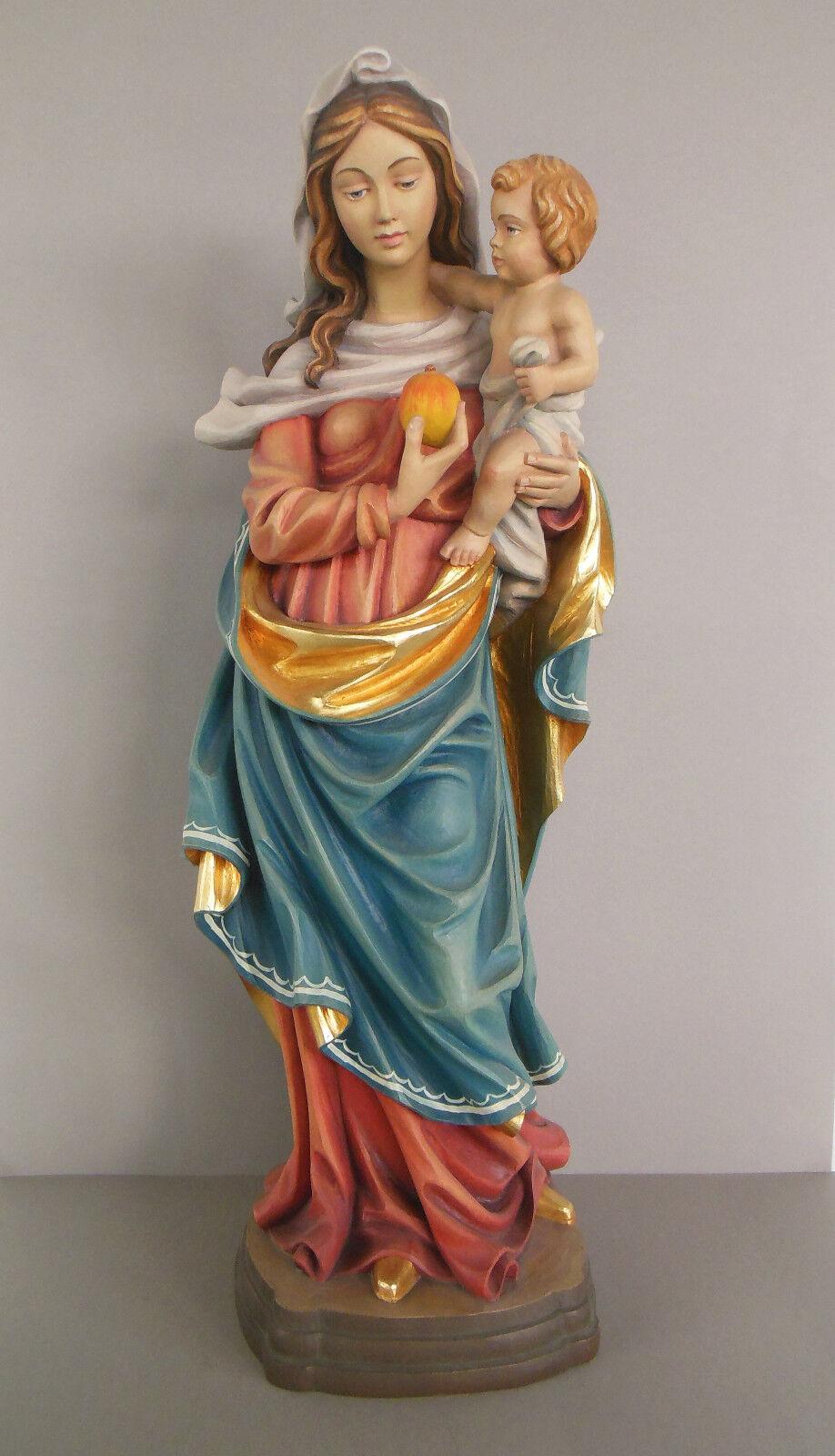 Maria mit Kind, Mutter Gottes; Madamen Madamen Madamen ca. 59 cm hoch, Holz geschnitzt bemalt 2023b4