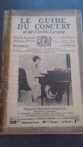 Revista Le Guía de La Concierto Y Las Sketches Letra 1931 N º 5 M. R.champion