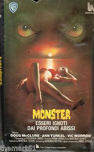 MONSTER-Esseri-ignoti-dai-profondi-Abissi-1989-VHS-Warner-1a-E-McClaure