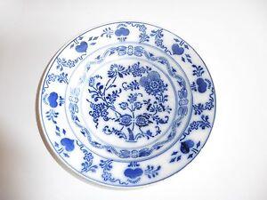 Assiette-Chinoise-en-porcelaine-bleu-et-blanc