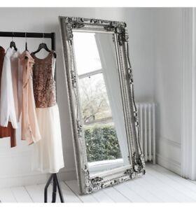 Standing Full Length Mirror Ornate Design Antique Silver Frame Mirror Ebay