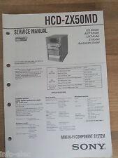 Schema SONY - Service Manual Mini Hifi Component System HCD-ZX50MD HCDZX50MD