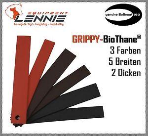 Meterware-GRIPPY-BioThane-Schwarz-Dunkelbraun-Rot-9-25-mm-breit-2-5-3-8-mm-dick