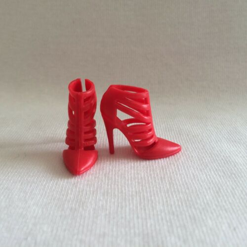 NEW Barbie Style Glam Fashionista Red Shoes Fit High Heel Original /& Petite Doll