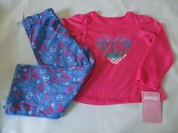 Girl's Size 4t Sugar Sweet Couture Pink/blue Polyester Flame Res. Pajama Set