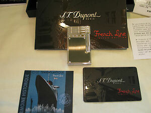 Motiviert S.t. Dupont Limited Edition. 2007 French Line Feuerzeug Linie 2 Fabrikneu! Weich Und Rutschhemmend