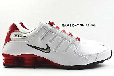 Nike Shox NZ (Mens Size 12) Shoes 378341 110 White University Red   eBay
