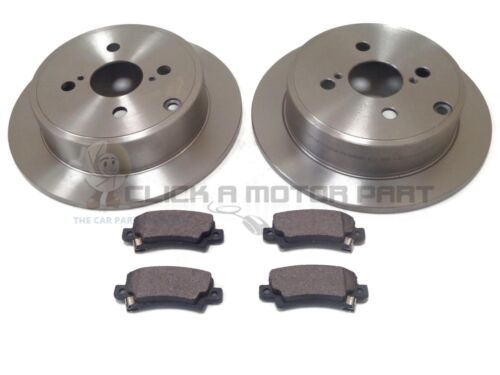 REAR 2 BRAKE DISCS & MINTEX PADS SET NEW FOR TOYOTA COROLLA 1.4 VVTi + 1.6 VVTi